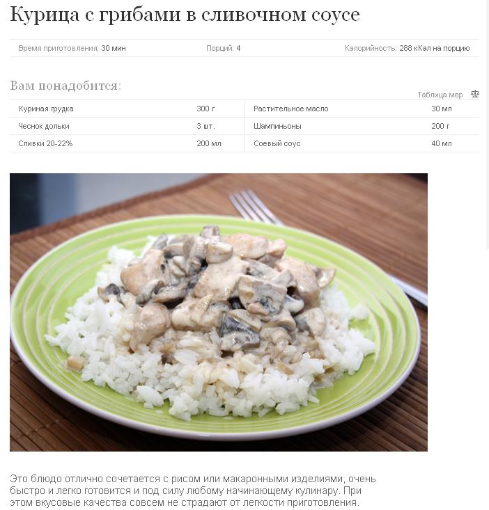 Рецепт из курицы и грибов рецепт пошагово в