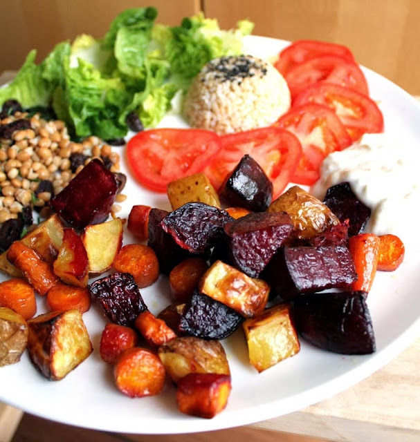 Oppskrift Ovnsbakte Grønnsaker Rødbete Potet Gulrot Hvordan Bake Tilberede Rotgrønnsaker