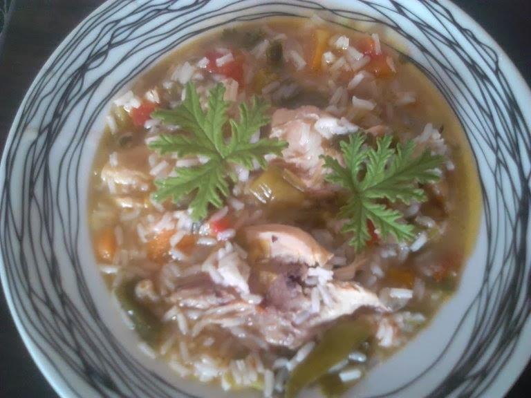 Supe me presh dhe mish pule (Receta nga Ela Kotarja Rexhmati)