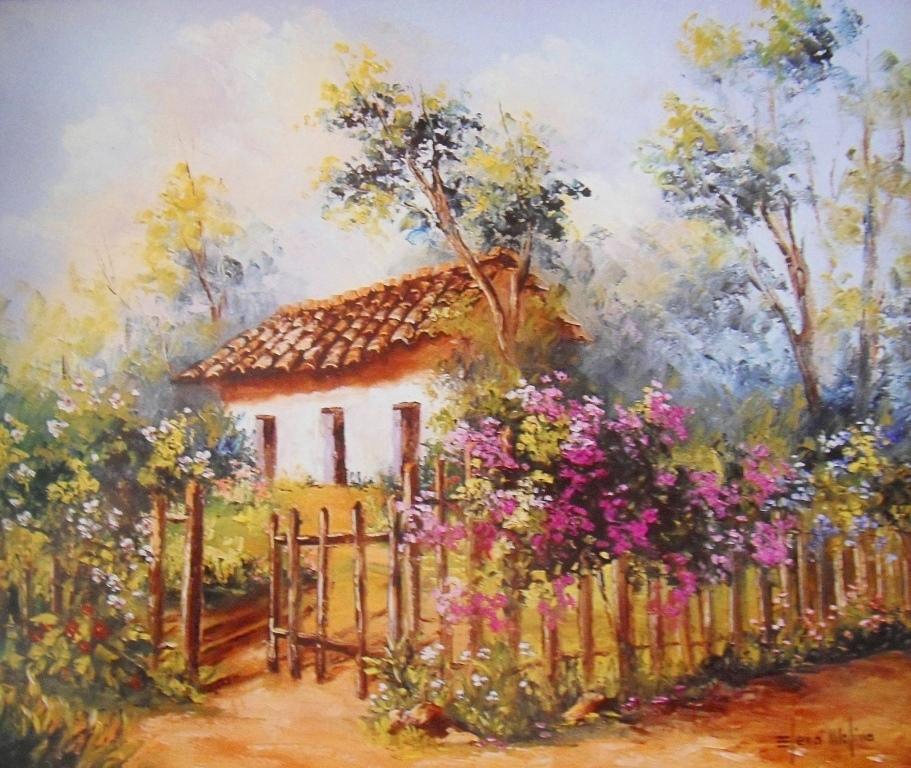 Cuadros modernos pinturas y dibujos im genes de pinturas for Pinturas para casas de campo