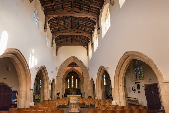 St Mary's church interior at Witney by Martyn Ferry Photography