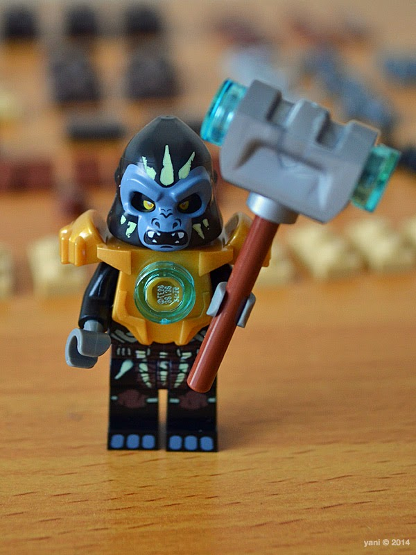 lego chima legend beast gorilla - gorzan suited up and ready to bash heads