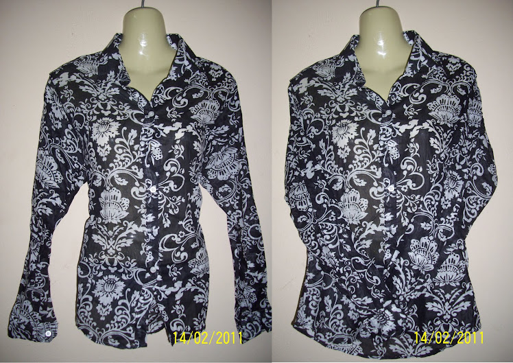 Black Flower Blouse - FR19