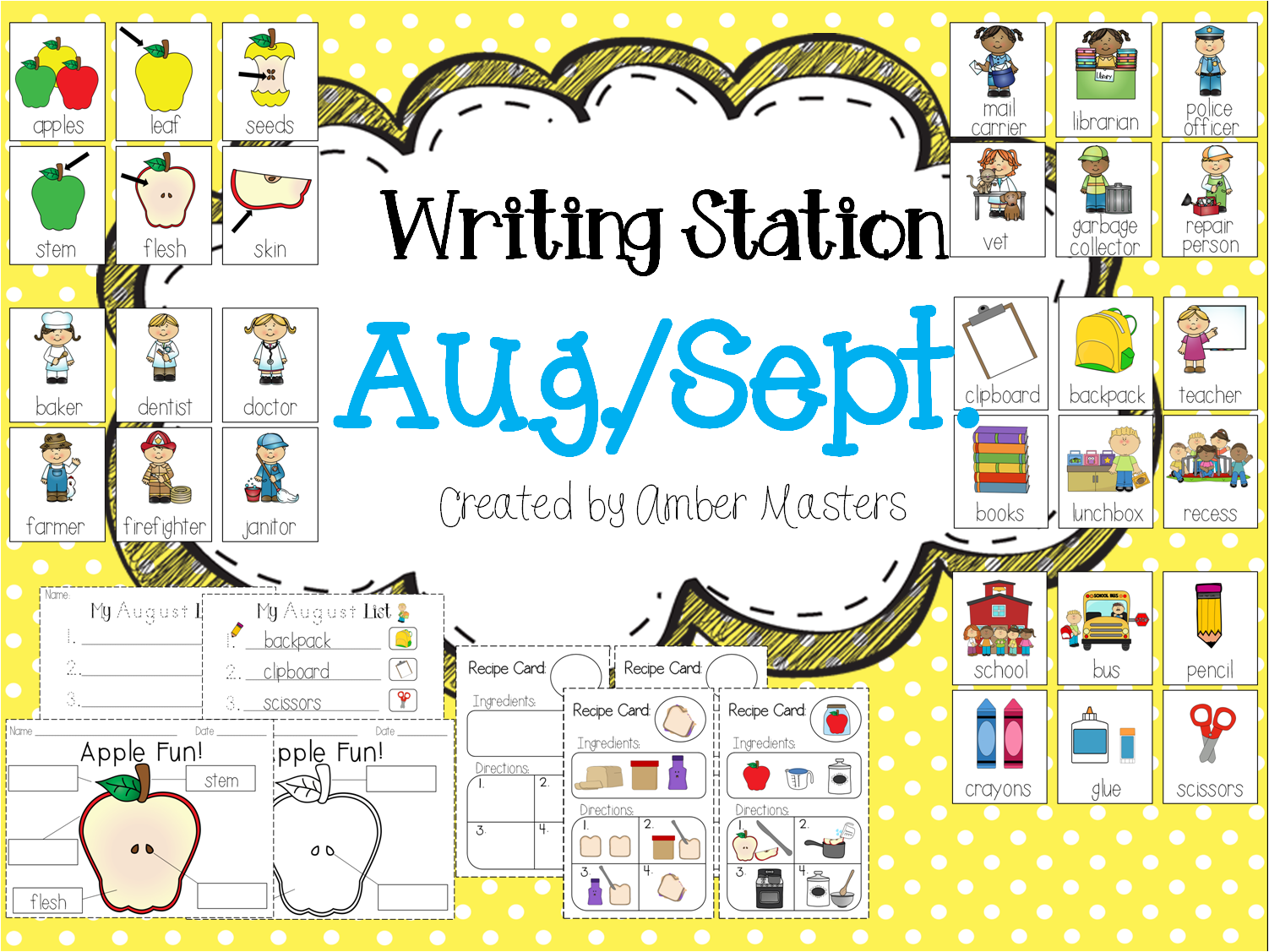 http://www.teacherspayteachers.com/Product/August-September-Writing-Station-1346988