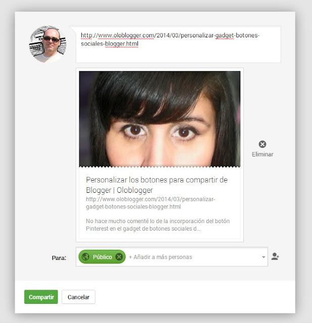 Problema con las imágenes al postear en Google+