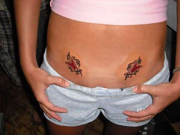 tattoos for girls on side of stomach