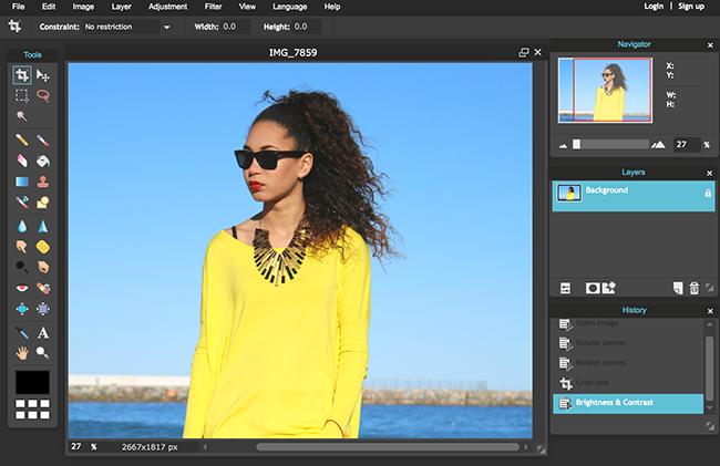 Pixlr photo editing tool