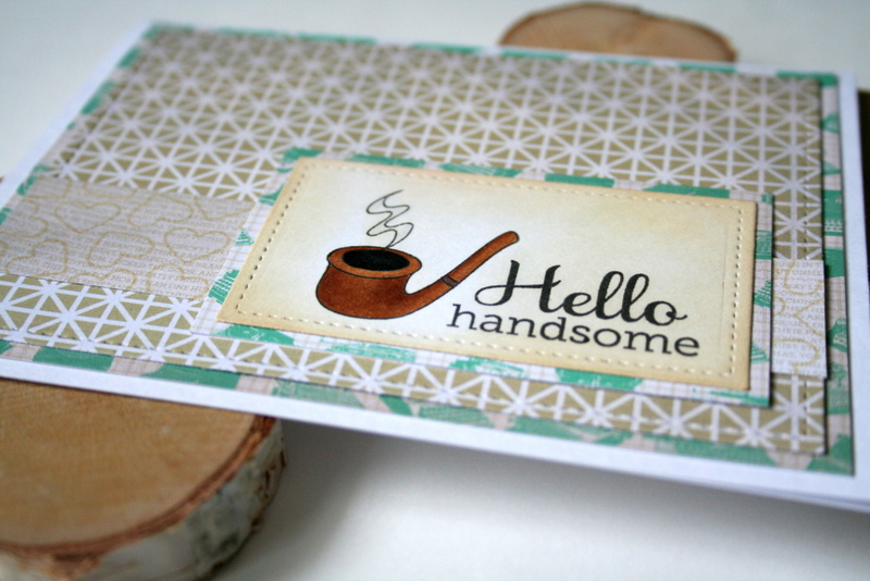 Hello Handsome Masculine Card by Jess Moyer featuring Twelve Days from Essentials by Ellen