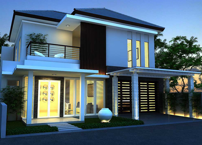 Contoh Desain Rumah Minimalis Dua Lantai Modern dan Terbaru