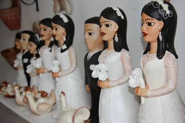 Bonecas em cerâmica do Vale do Jequitinhonha