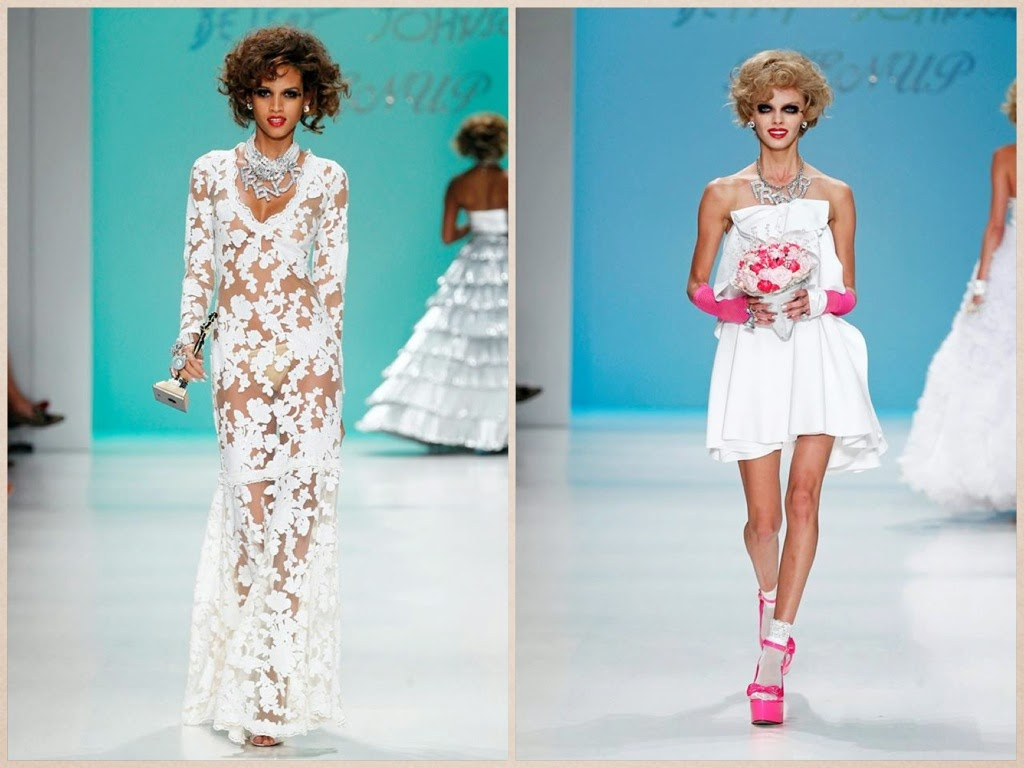 idee abiti sposa particolari, sfilata betsey johnson PE 2015, new yotk fashion week