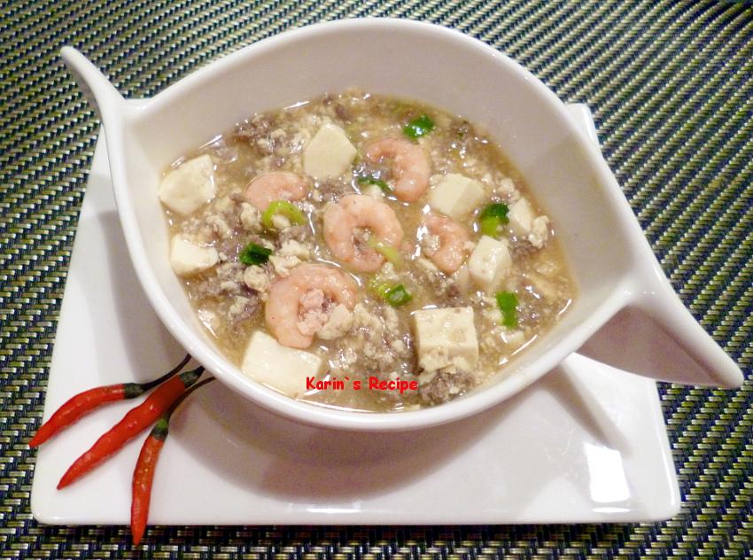 Karins recipe mun tahu indonesian braised tofu mince meat in indonesian english forumfinder Images