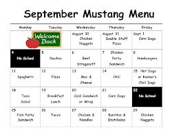 September Lunch Menu