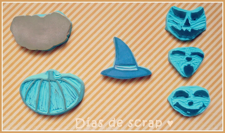 scrap sellos handmade Halloween calabaza