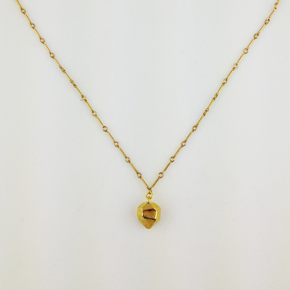 American fashion blogger Necklace Yellow Gold for girls 2014a