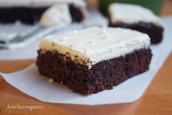 Kahlua Brownies w/ Kahula Buttercream