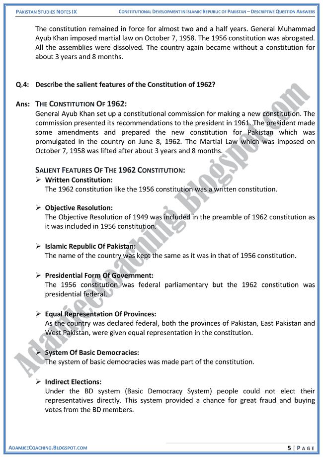 constitutional-development-in-islamic-republic-of-pakistan-descriptive-question-answers-pakistan-studies-ix