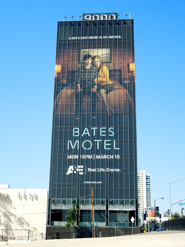 Giant Bates Motel series premiere billboard Sunset Strip