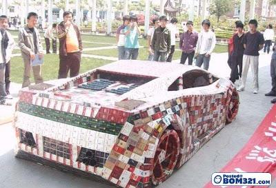 Replika Kereta Dari Kotak Rokok