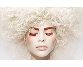 Red false lashes