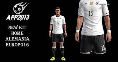 PES 2013 New Kit Home Alemania (Germany) Euro 2016 by APP2013