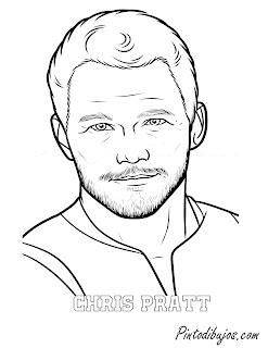 Chris Pratt para colorear