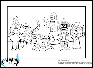 free yo gabba gabba coloring pages printable