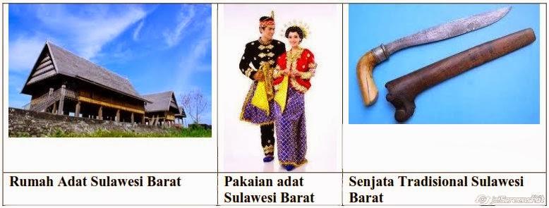 rumah,pakaian,senjata adat sulawesi barat