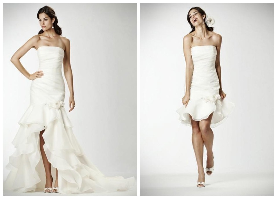 simple 2 in 1 wedding dresses