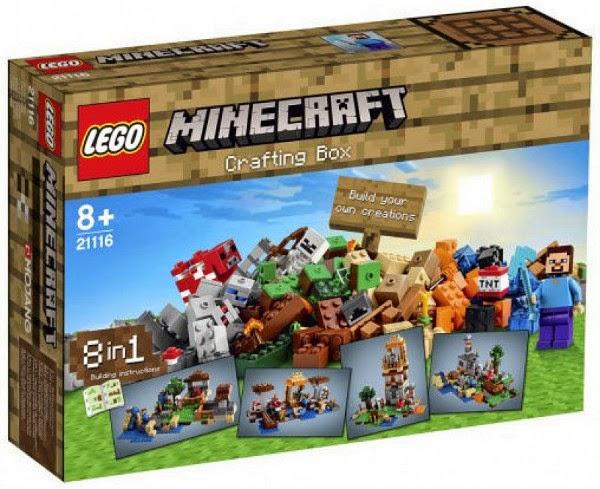 TOYS : JUGUETES - LEGO Minecraft   21116 Mesa de trabajo | Creative Box | Crafting Box  Producto Oficial 2014 | A partir de 8 años