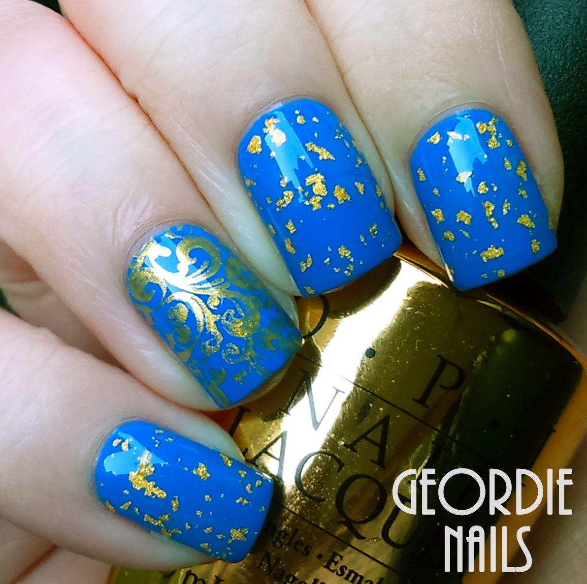 Geordie Nails: January Nail Art Challenge: Fave Animal and Gold