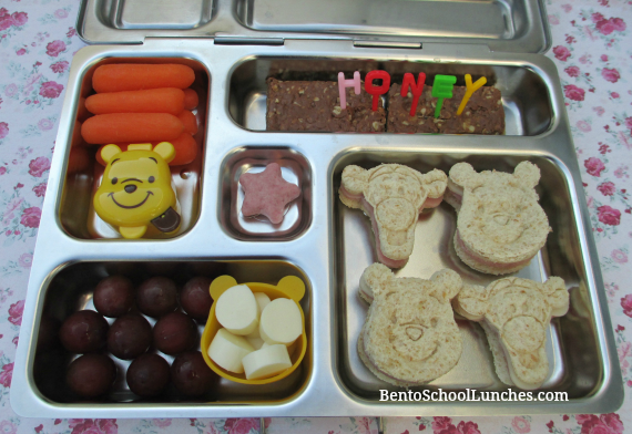 Disney Winnie the Pooh, Tigger stamped sandwiches, bento school lunch
