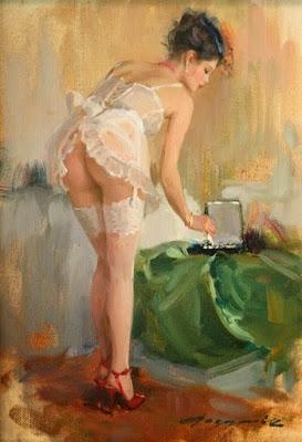 Derrier Pinturas De Desnudos Arte Konstantin Razumov