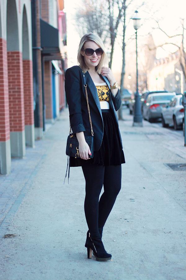 BB Dakota Leather Lapel Blazer