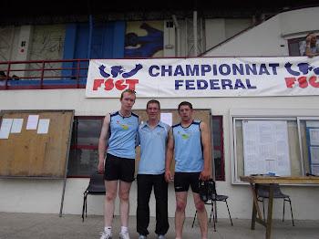 nos 3 jeunes au championnat de france fsgt
