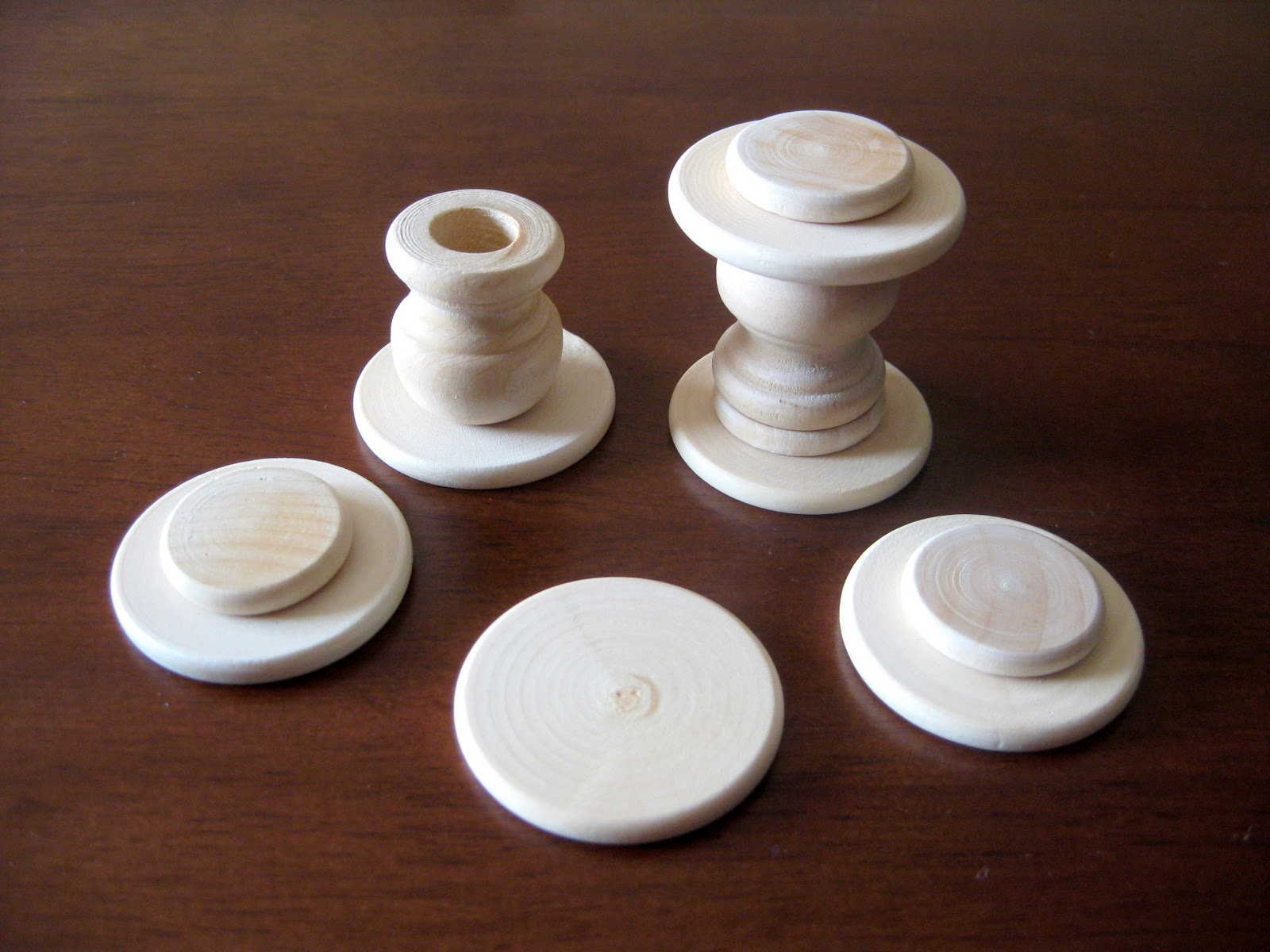 Wood finials for crafts - Paint Your Wood Bases White Or Whatever Color You Choose Allow To Dry Then Glue Your Egg Forms On Top I Used Hot Glue For This Step