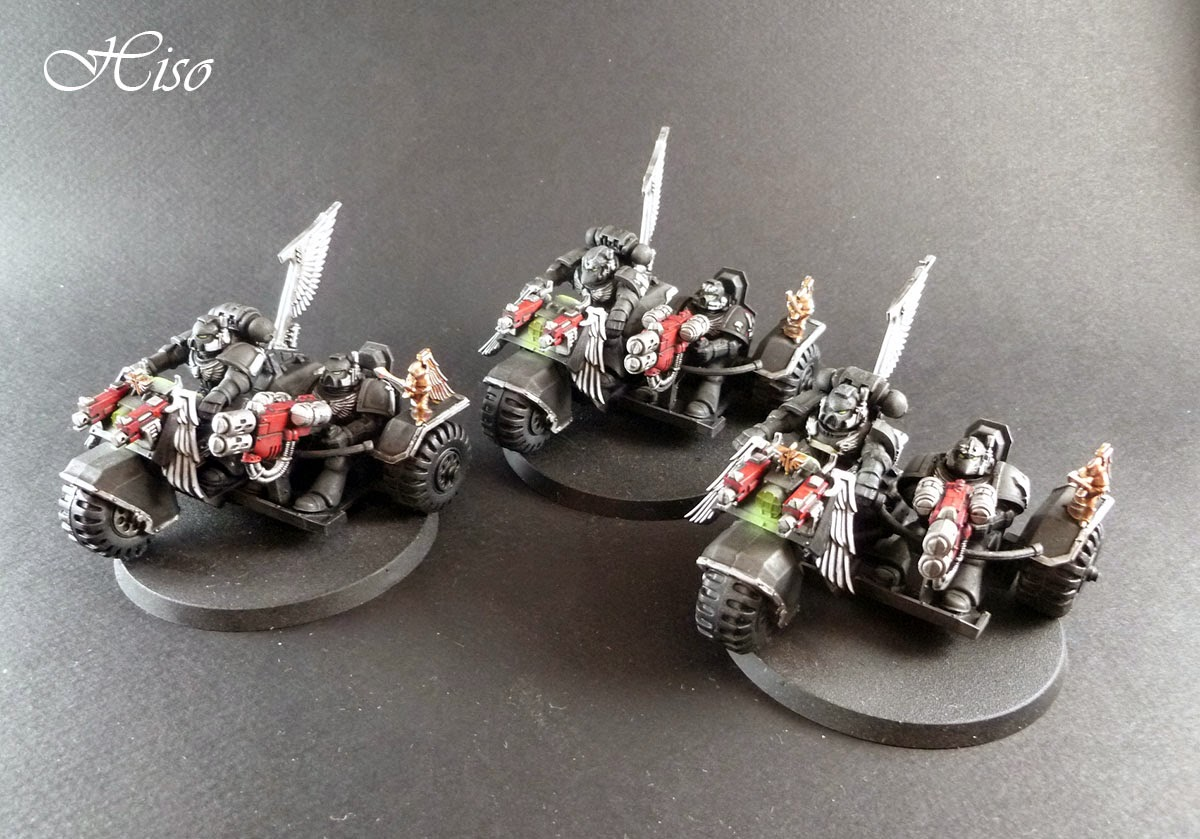 Dark Angels Ravenwing - motos assaut