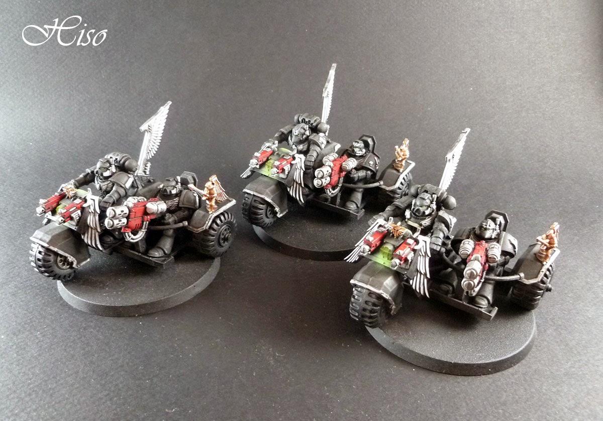 Dark Angels Ravenwing - motos assaut