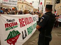 protest cluj primarie rosia montana