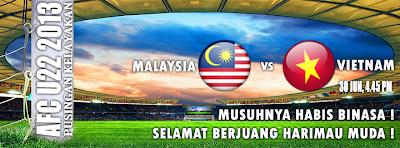 Keputusan Malaysia Vs Vietnam 30 Jun 2012 | Kelayakan Piala Asia (AFC) B22 2013