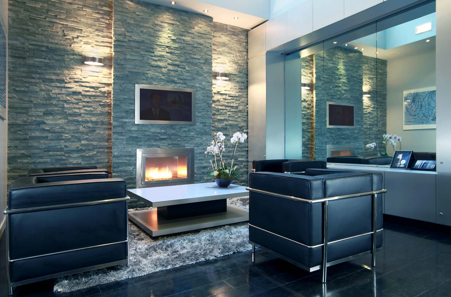 Hearth Cabinet™ Ventless Fireplace In Hommage Atelier NYC