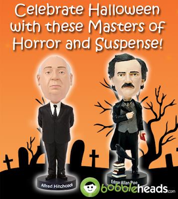 Halloween Alfred Hitchcock Edgar Allan Poe Bobbleheads