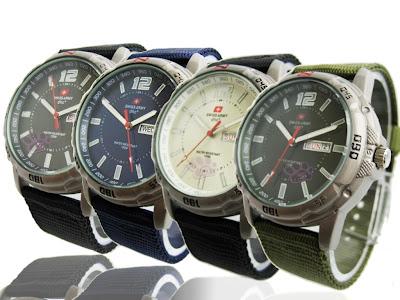 Jam Tangan Swiss Army | Murah | Grosir | Canvas | Pria