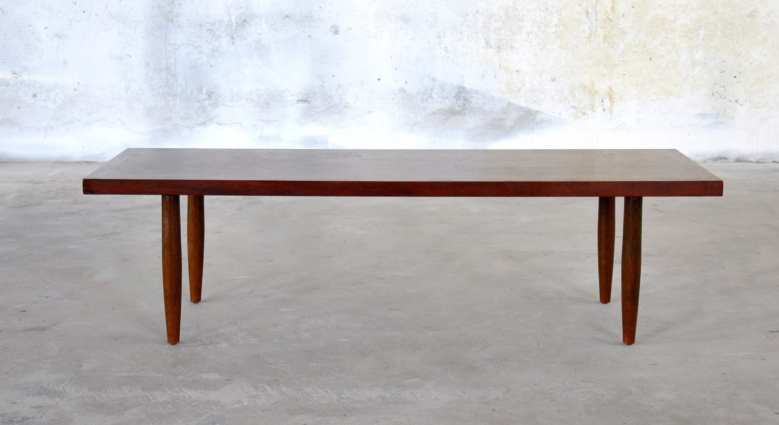 Select modern mid century modern walnut coffee table or bench for Walnut coffee table