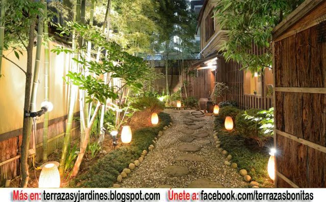 Diseno de jardin iluminado terrazas y jardines fotos de for Diseno y decoracion de jardines