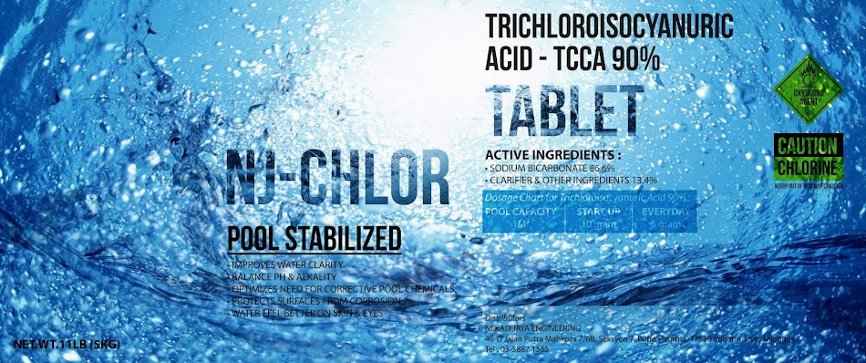 NJ-CHLOR STABILIZED 90% TABLET, CHLORINE SUPPLIER IN MALAYSIA