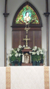 Altar before Easter Vigil