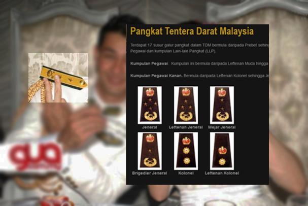 Kontroversi Baju Uniform Farid Kamil Hina Tentera