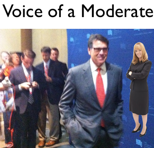 Voice of a Moderate Asks Gov. Rick Perry the Tough Question
