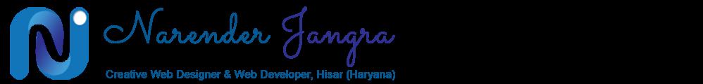 Narender Jangra - Web Developer & Designer